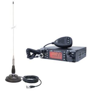 HP 9001 PRO ASQ ρυθμιζόμενη, AM-FM, 12V, 4W + CB PNI ML100 κεραία