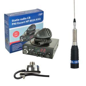 CB PNI ESCORT Σταθμός ραδιοφώνου ASW 8024 + CB PNI ML160 Κεραία με υποστήριξη T941